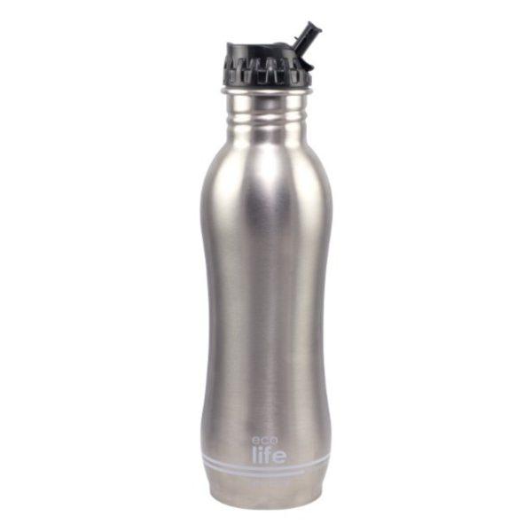 Ανοξείδωτο Μπουκάλι Νερού Με Φίλτρο Ασημί 750ml