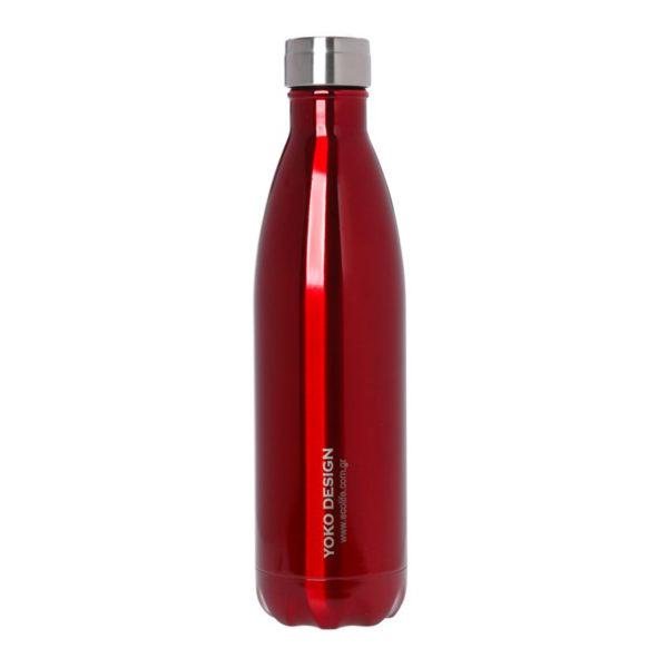 Ανοξείδωτο Μπουκάλι Θερμός Red Yoko Design 750ml