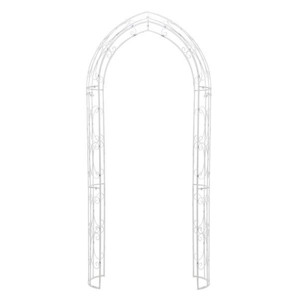 Αψιδωτή Μεταλλική Είσοδος Σκαλιστή Λευκή 130x40 Y250