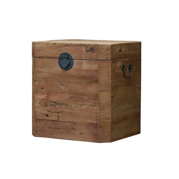 Μπαούλο Από Παλαιωμένο Ξύλο Πεύκου Natural 52x48 Υ55
