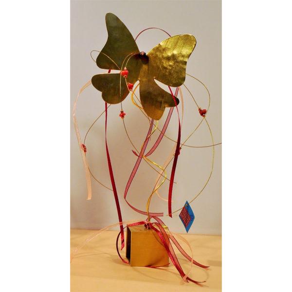 Χειροποίητη Πεταλούδα Μεταλλική Χρυσή Σε Μπρούντζινη Βάση Υ28