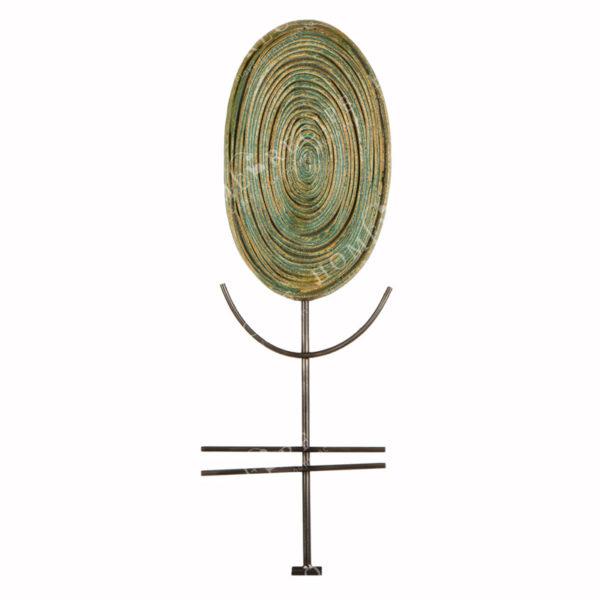 Χειροποίητο Ελληνικό Γλυπτό 'Δέντρο Οβάλ Ορθιο' Y58