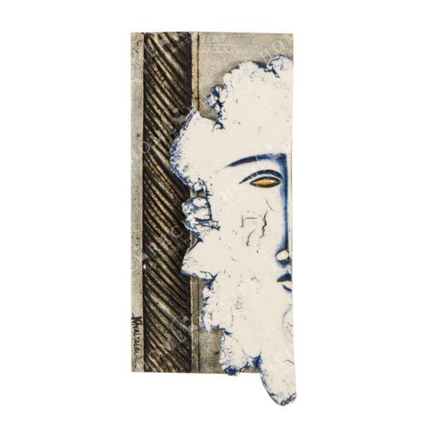 Χειροποίητο Ελληνικό Γλυπτό 'Μικρό Πρόσωπο Αριστερό' Y33