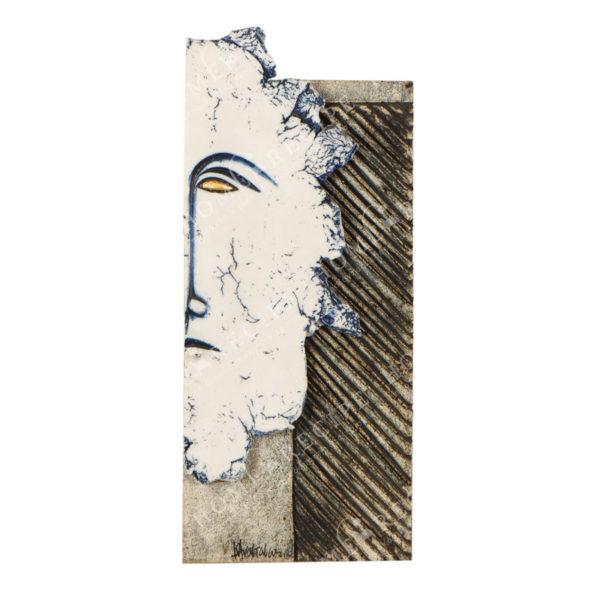 Χειροποίητο Ελληνικό Γλυπτό 'Μικρό Πρόσωπο Δεξί' Y34