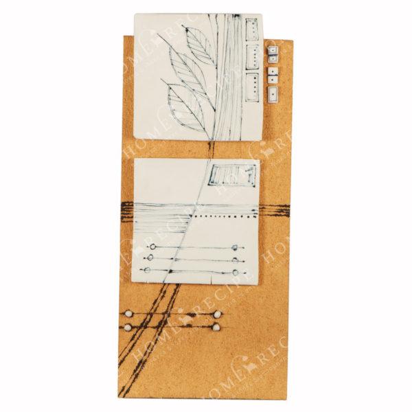 Χειροποίητο Ελληνικό Γλυπτό 'Σύνθεση Με Πορσελάνη' 30x63