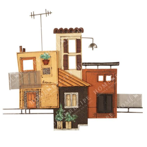 Χειροποίητο Ελληνικό Γλυπτό 'Σύνθεση Πόλη' Μ80