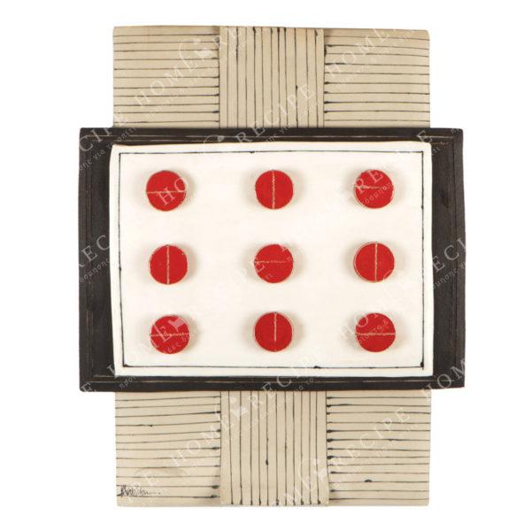 Χειροποίητο Ελληνικό Γλυπτό 'Σύνθεση Sushi Τετράγωνο' 41x52