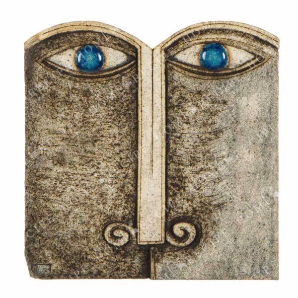 Χειροποίητο Ελληνικό Γλυπτό 'Τετράγωνο Πρόσωπο' 22x23