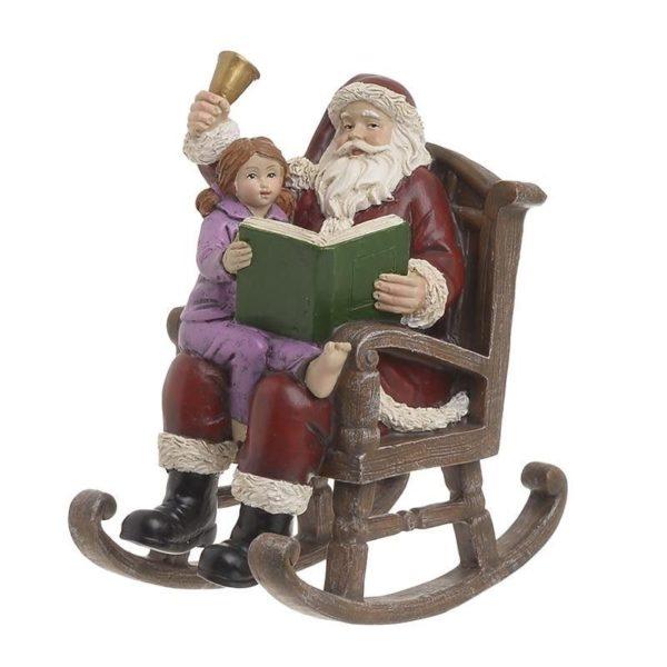 Χριστουγεννιάκτικο Διακοσμητικό Άγιος Βασίλης Σε Πολυθρόνα 14x8x16, Inart