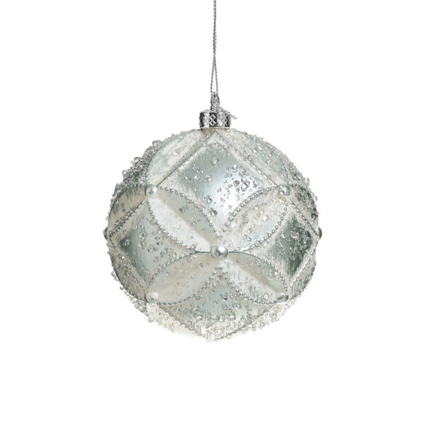 Χριστουγεννιάτικη Μπάλα Βεραμάν Δ10, Σετ Των 2, Inart