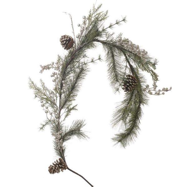 Χριστουγεννιάτικη Γιρλάντα Με Κουκουνάρια Μ145, Inart