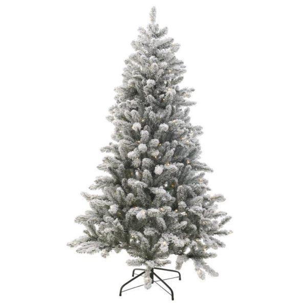 Χριστουγεννιάτικο Χιονισμένο Δέντρο Με Led Φωτάκια Υ180