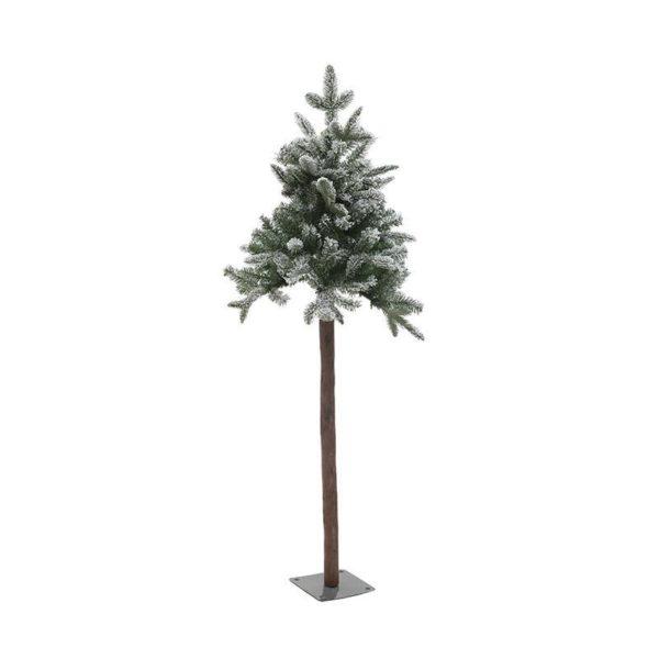 Χριστουγεννιάτικο Χιονισμένο Δέντρο Με Μεταλλική Βάση Υ150, 136 Tips