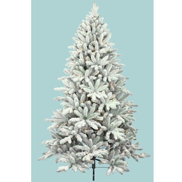 Χριστουγεννιάτικο Δέντρο Χιονισμένο Λευκό 'Alaska' Y240 | ZAROS