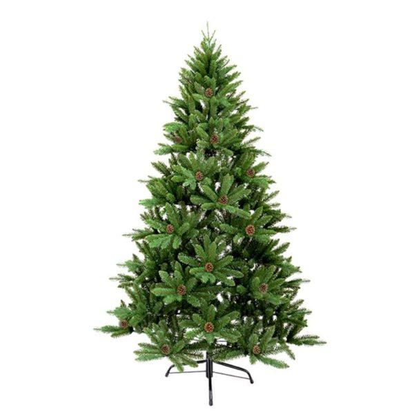 Χριστουγεννιάτικο Δέντρο Πράσινο Με Κουκουνάρια Υ120 | ZAROS