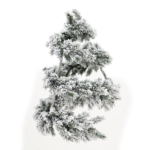 Χριστουγεννιάτικο Στεφάνι/ Γιρλάντα Χιονισμένο Υ90