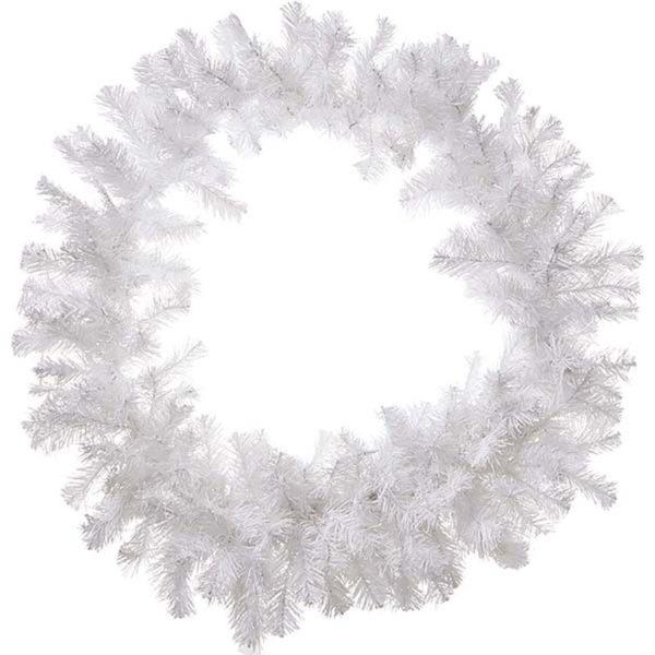 Χριστουγεννιάτικο Στεφάνι Λευκό Δ60, 220 Tips