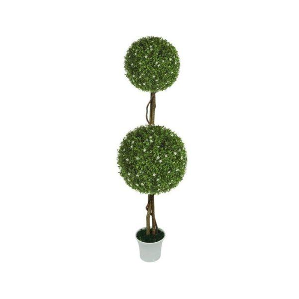 Δέντρο 2 Μπάλες Λευκό Ανθός Δ28/38 Με Φυσικό Κορμό Υ130