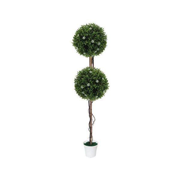 Δέντρο 2 Μπάλες Λευκό Ανθός Δ28 Με Φυσικό Κορμό Υ130