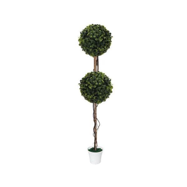 Δέντρο 2 Μπάλες Τριφύλλι Δ28 Με Φυσικό Κορμό Y130