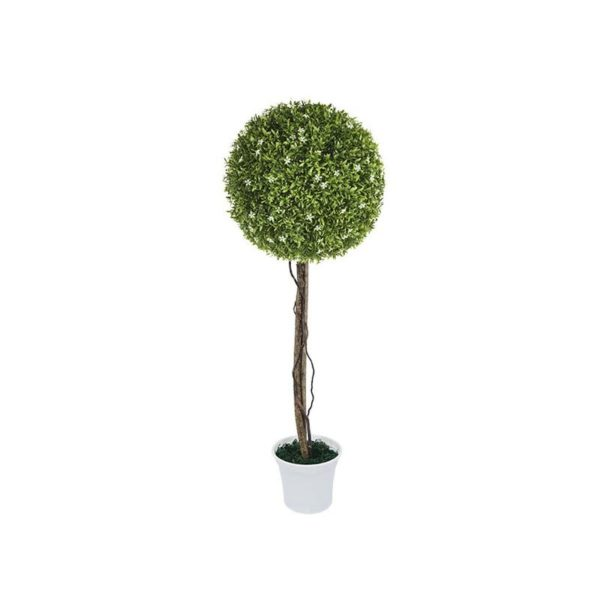 Δέντρο Μονή Μπάλα Λευκό Ανθός Δ38 Με Φυσικό Κορμό Υ90