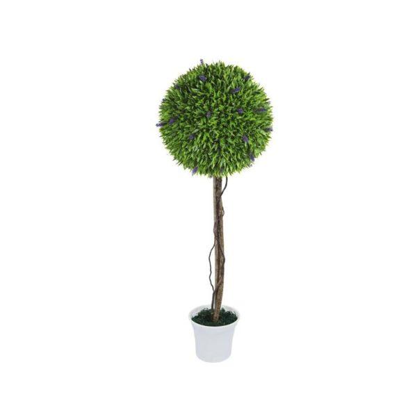 Δέντρο Μονή Μπάλα Λεβάντα Δ38 Με Φυσικό Κορμό Υ90