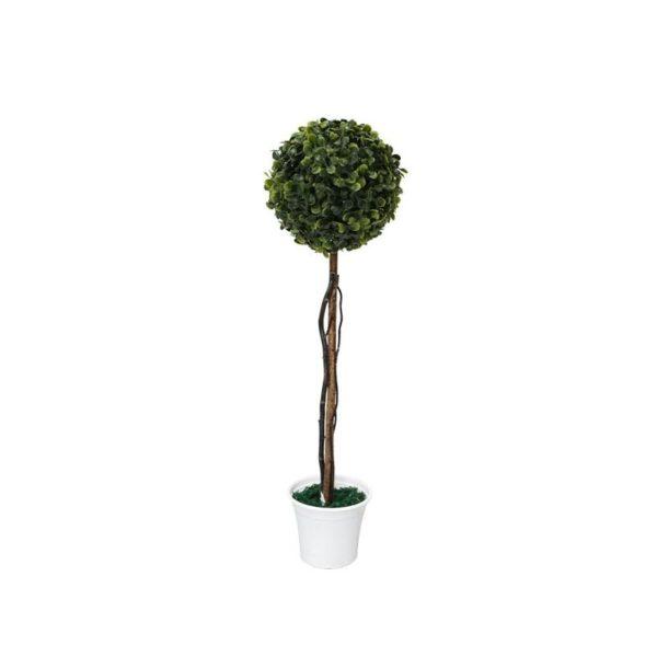 Δέντρο Μονή Μπάλα Τριφύλλι Δ28 Με Φυσικό Κορμό Υ90