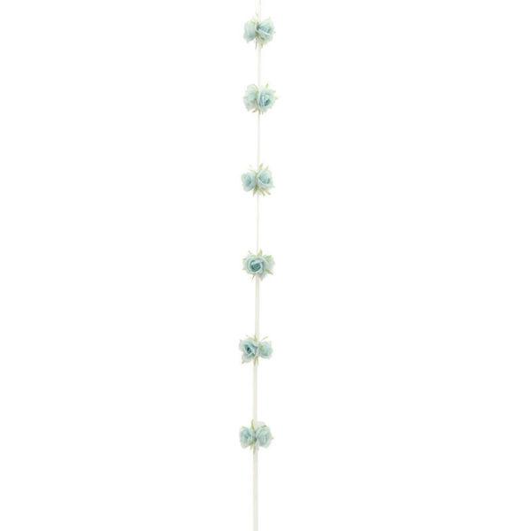 Διακοσμητική Γιρλάντα Υφασμάτινη Με Γαλάζια Τριαντάφυλλα Υ180