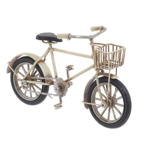 Διακοσμητική Μινιατούρα Ποδήλατο Μεταλλικό Μπεζ, Inart