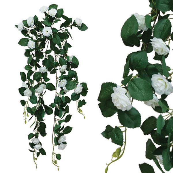 Διακοσμητική Ρίζα Κρεμαστή Λευκή Τριανταφυλλιά Υ90