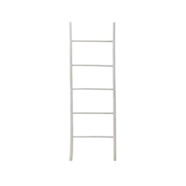 Διακοσμητική Σκάλα Από Φυσικό Bamboo Σε Λευκό Χρώμα Υ150