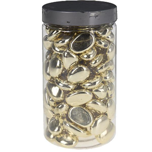 Διακοσμητικό Ακρυλικό Βότσαλο Για Συνθέσεις Χρυσό, Διάφορα Σχέδια