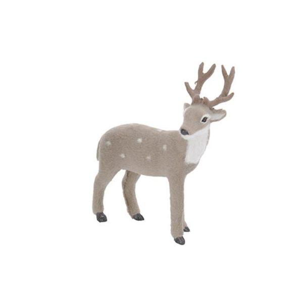 Διακοσμητικό Ελαφάκι Γκρι/ Λευκό Y26 A