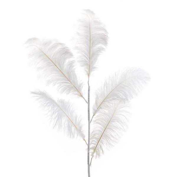 Διακοσμητικό Φτερό Λευκό Μεγάλο Υ125