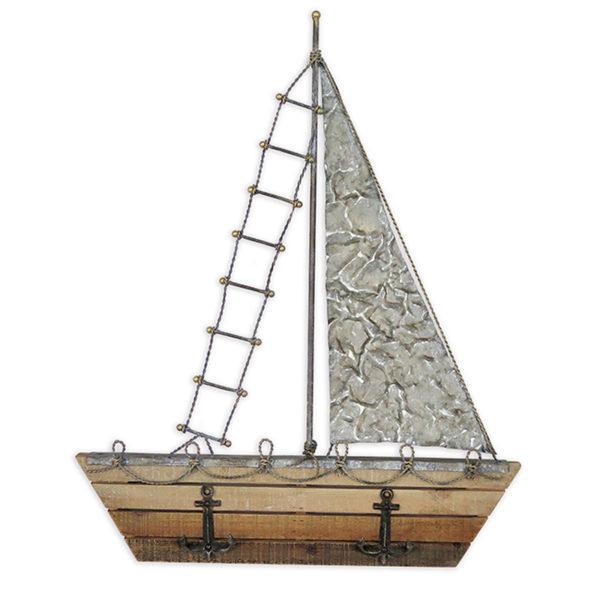 Διακοσμητικό Καράβι Επιτοίχιο Μέταλλο/ Ξύλο Υ63.5