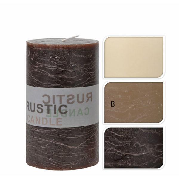Διακοσμητικό Κερί Κορμός Rustic Καφέ Υ15