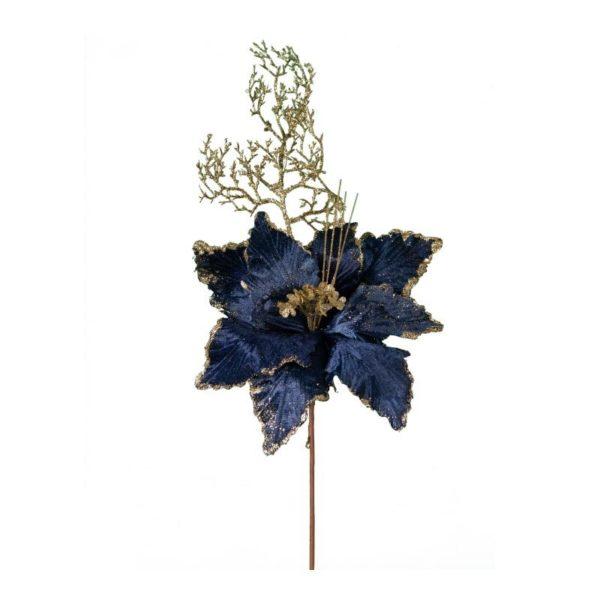 Διακοσμητικό Κλαδί Αλεξανδρινό Βελούδινο Μπλε Royal