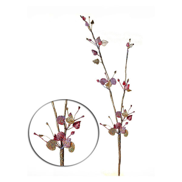 Διακοσμητικό Κλαρί Berries Ροζ/ Χρυσό 70cm