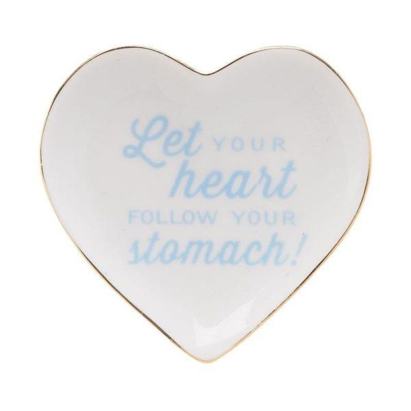 Διακοσμητικό Πιατάκι Καρδιά Με Μήνυμα
