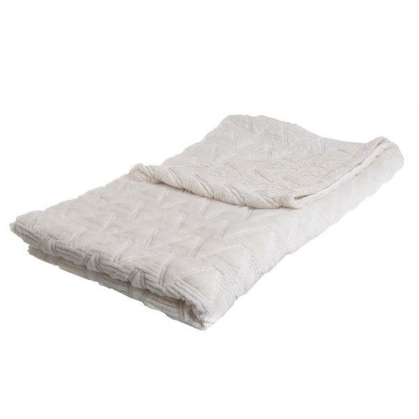 Διακοσμητικό Ριχτάρι Γούνινο Λευκό 150x180