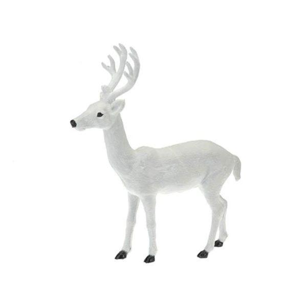 Διακοσμητικό Ταρανδάκι Λευκό Y37 Α