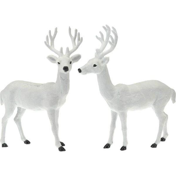 Διακοσμητικό Ταρανδάκι Λευκό Y37 Β