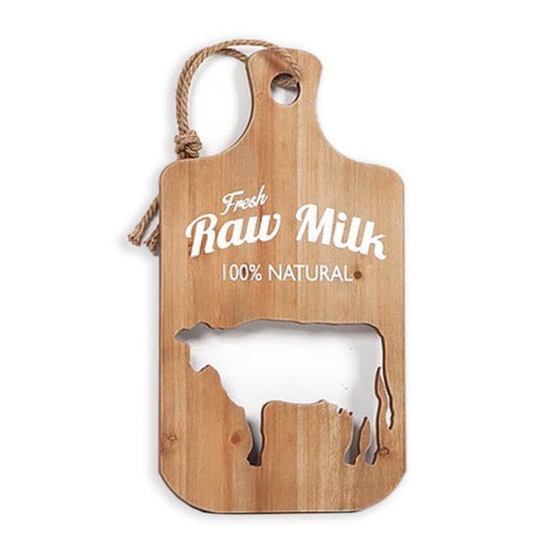 Διακοσμητικό Τοίχου/ Βάση Κοπής Ξύλινη ''Raw Milk'' Υ44.5
