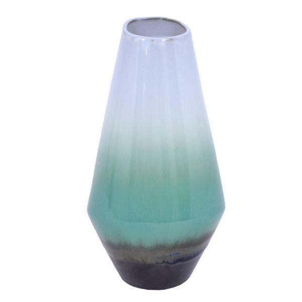 Διακοσμητικό Βάζο Πορσελάνη Απαλό Πράσινο/ Λευκό Ντεγκραντέ Υ26