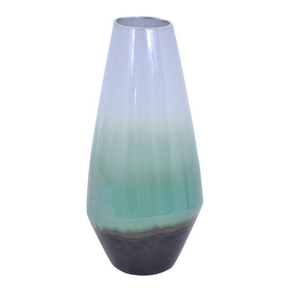 Διακοσμητικό Βάζο Πορσελάνη Απαλό Πράσινο/ Λευκό Ντεγκραντέ Υ34