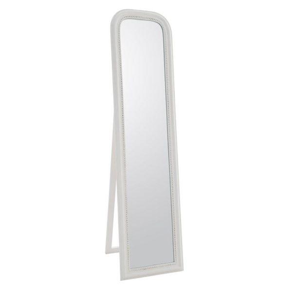Επιδαπέδιος Καθρέπτης Ξύλινος Λευκός Αντικέ Μ40 Υ160