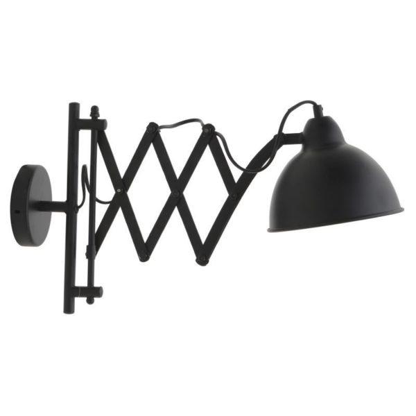Επιτοίχιο Φωτιστικό Μεταλλικό Mαύρο Με Πτυσσόμενο Βραχίονα Μ50