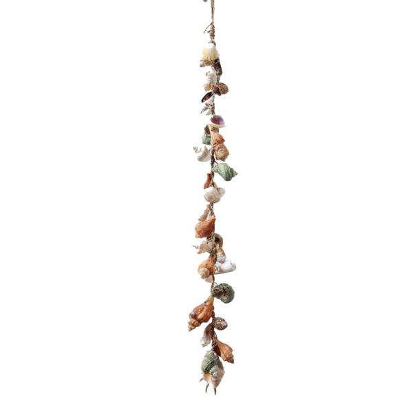 Επιτοίχιο Κρεμαστό Διακοσμητικό Από Σχοινί Και Όστρακα Υ70