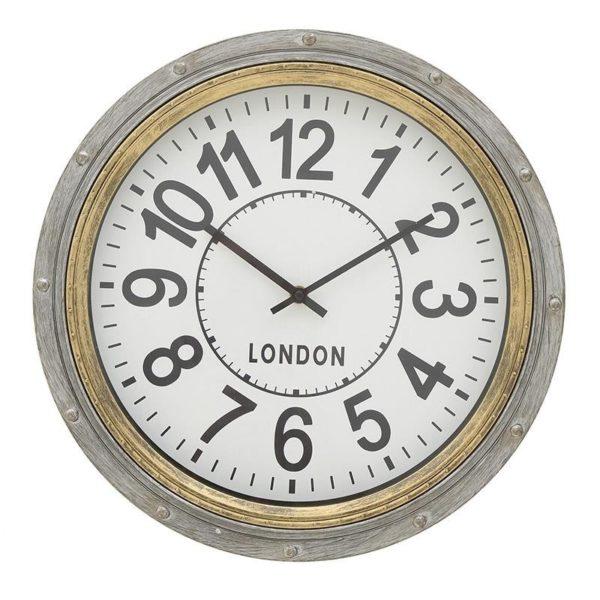 Επιτοίχιο Ρολόι Χρυσό/ Γκρι Δ40 Ιnart