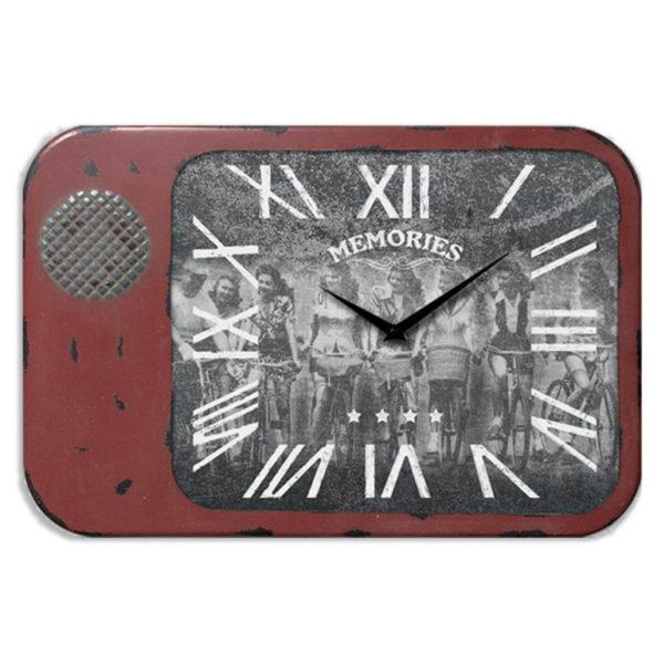 Επιτοίχιο Ρολόι Vintage Μεταλλικό Κόκκινο ''Memories''